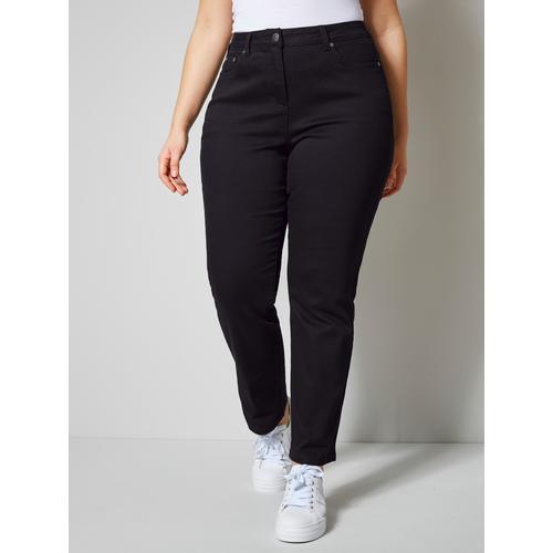 Janet & Joyce by HAPPYsize Jeans mit Bauchweg-Funktion schwarz Damen Gerade