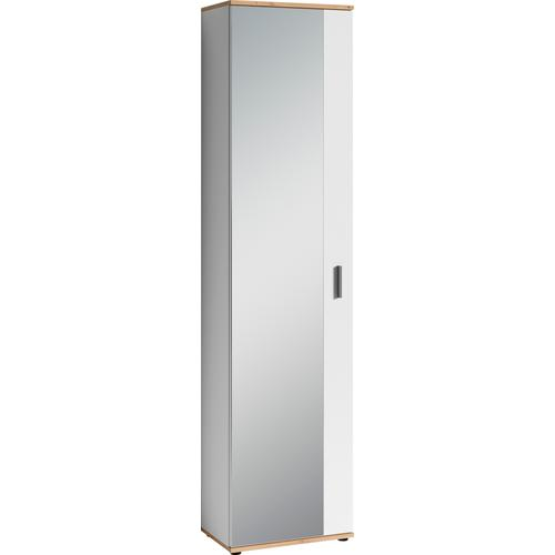 Homexperts Garderobenschrank Justus, mit Spiegel weiß Garderobenschränke Garderoben