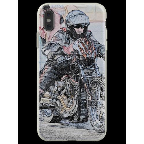 Harley Drag Fahrrad I Flexible Hülle für iPhone XS Max
