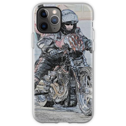 Harley Drag Fahrrad I Flexible Hülle für iPhone 11 Pro