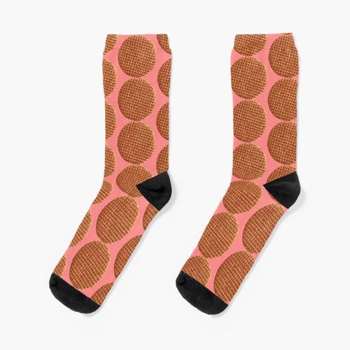 Holländische Waffel, Sirup Waffel oder de stroopwafel Socken