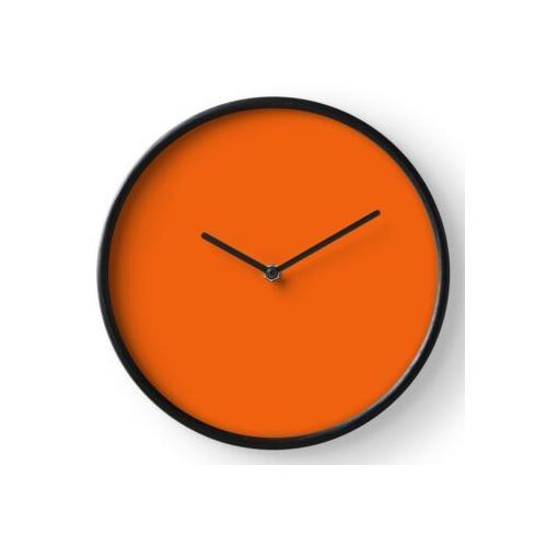 Festes Orange Uhr