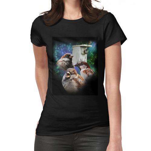 Drei Spatz Nistkasten Frauen T-Shirt