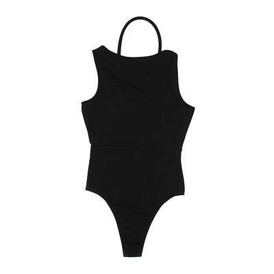 Bodysuit: Black Solid Clothing -...