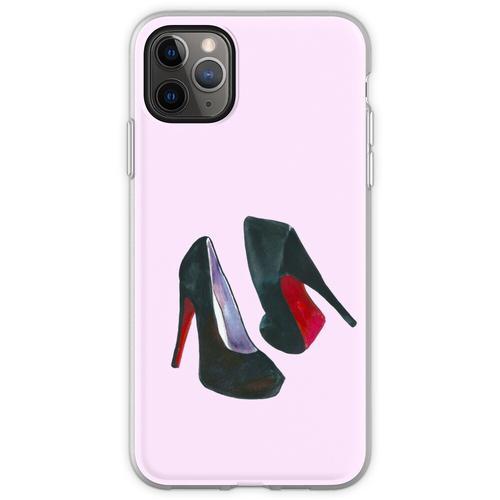 Schwarze Damenschuhe Flexible Hülle für iPhone 11 Pro Max