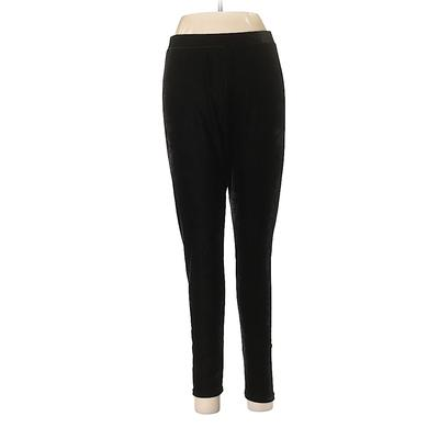 Nine West Velour Pants - Low Rise: Black Activewear - Size Medium