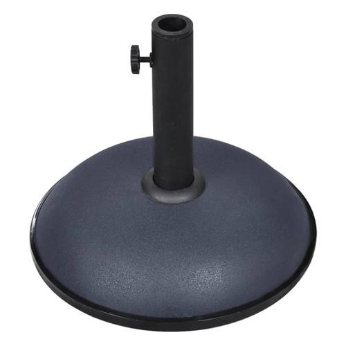 vidaXL Sonnenschirmständer 11 kg Dunkelgrau Stahl und Zement