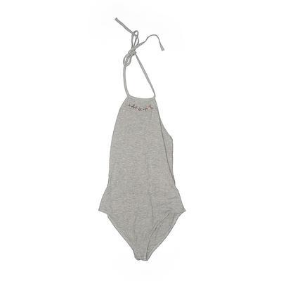 Kendall & Kylie Bodysuit: Gray C...