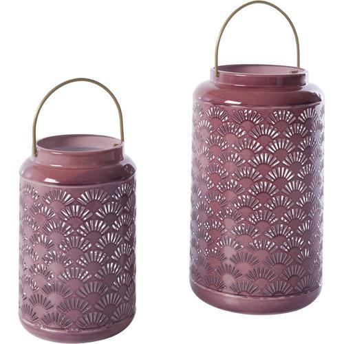 INOSIGN Laterne lila Kerzenhalter Kerzen Laternen Wohnaccessoires