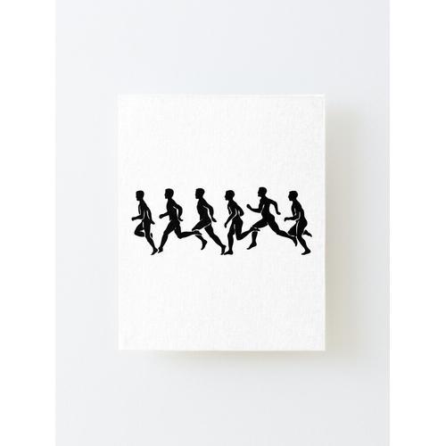 Jogger. Laufen, Läufer, Laufen, Joggen, Joggen, Jogger. Aufgezogener Druck