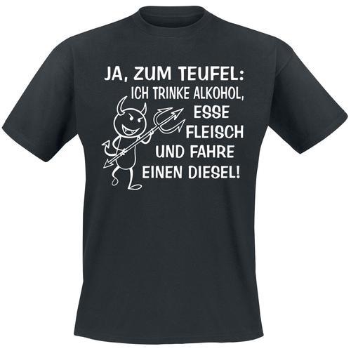 Ja, zum Teufel Herren-T-Shirt - schwarz