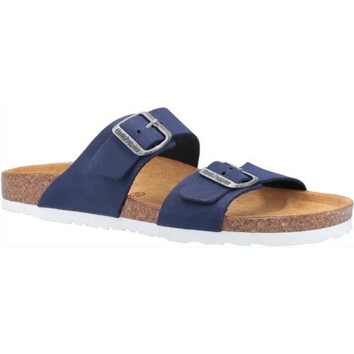 Hush Puppies Sandale Damen Kylie Mule Leder blau Sandaletten Sandalen