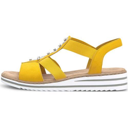 Rieker, Sommer-Sandale in gelb, Sandalen für Damen Gr. 37