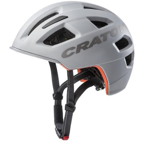 Cratoni Fahrradhelm City-Fahrradhelm C-Pure grau Rad-Ausrüstung Radsport Sportarten