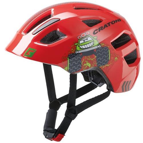 Cratoni Kinderfahrradhelm Fahrradhelm MAXSTER rot Rad-Ausrüstung Radsport Sportarten