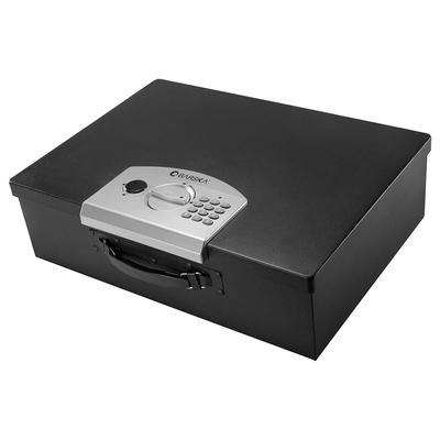 Barska AX11910 Portable Safe w/ Keypad Lock - Steel, Black