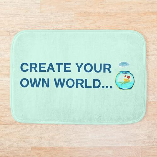 Erstelle deine eigene Welt Badematte