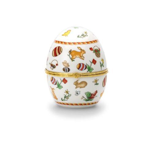 Porzellan-Ei Hasen H 12,0 cm D 10,0 cm Porzellan / vergoldet