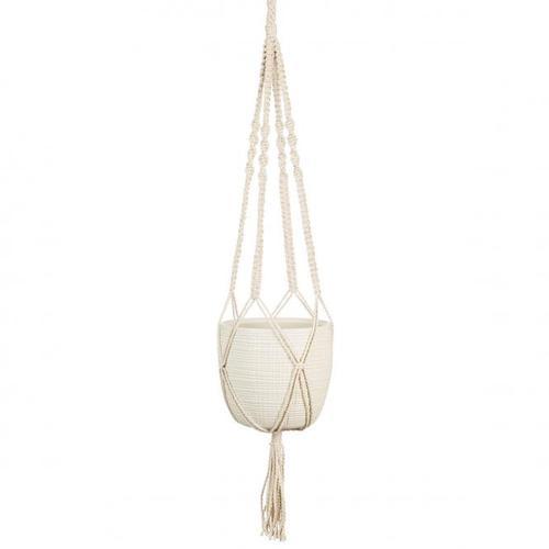 Hängeampel Vainilla, 16cm, Weiß