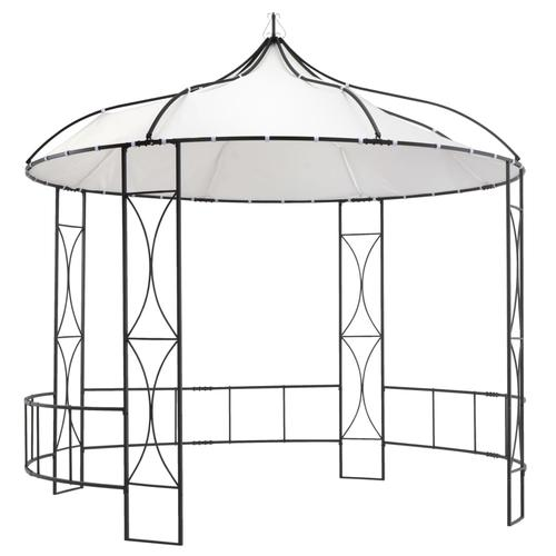 vidaXL Pavillon 300 x 290 cm Weiß Rund