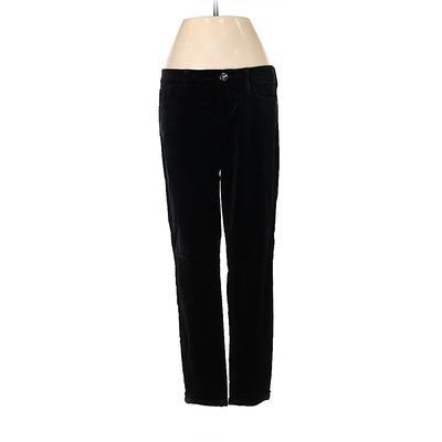 Banana Republic Velour Pants - Low Rise: Black Activewear - Size 27