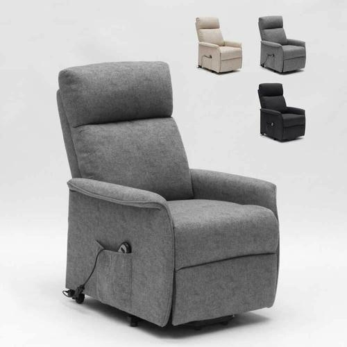 Elektrisches Relaxsessel mit Aufstehhilfe für Senioren Giorgia Fx | Farbe: Grau