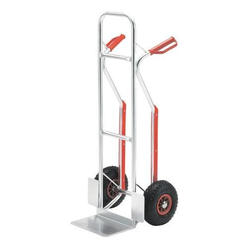 Alu-Stapelkarre mit Luftbereifung bis 150 kg, ROLLCART, 48x117.5x49 cm