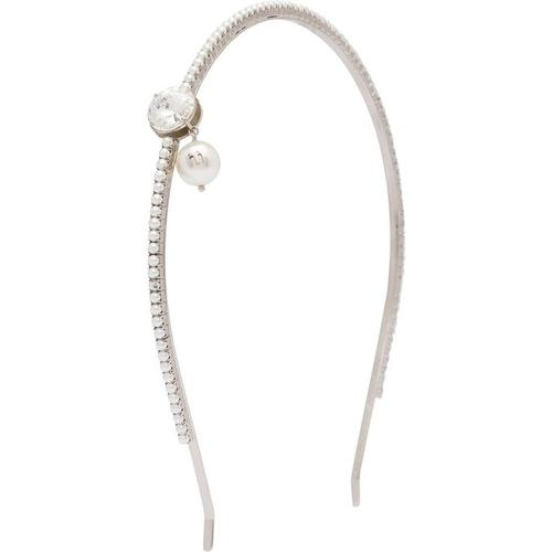 Miu Miu Haarreif mit Kristallen und Perlen