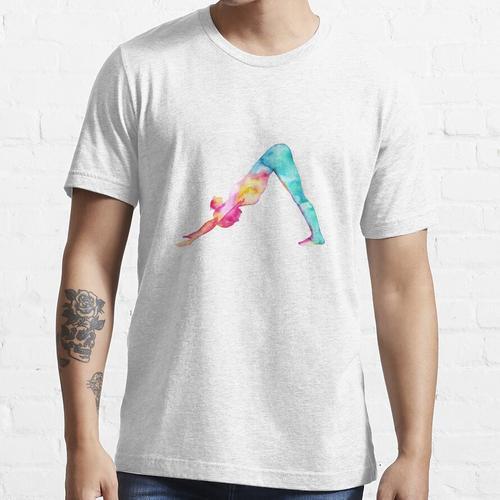 Abwärtsgerichteter Hund in den Aquarellen Essential T-Shirt