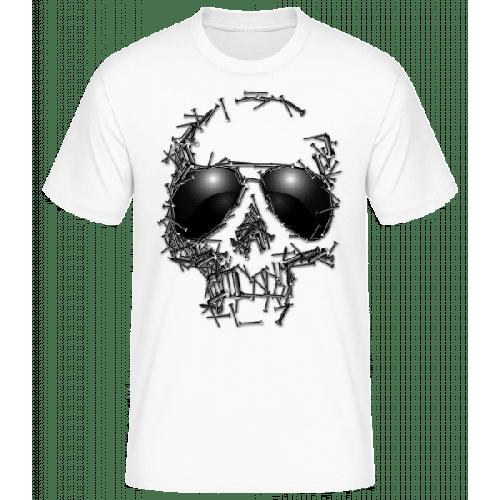 Sonnenbrille Totenkopf - Männer Basic T-Shirt
