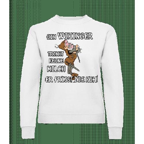 Wikinger Fressen Die Kuh - Frauen Pullover