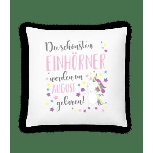 Einhorn Geboren In August - Kissen