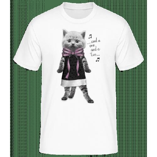 Tanzende Katze - Männer Basic T-Shirt