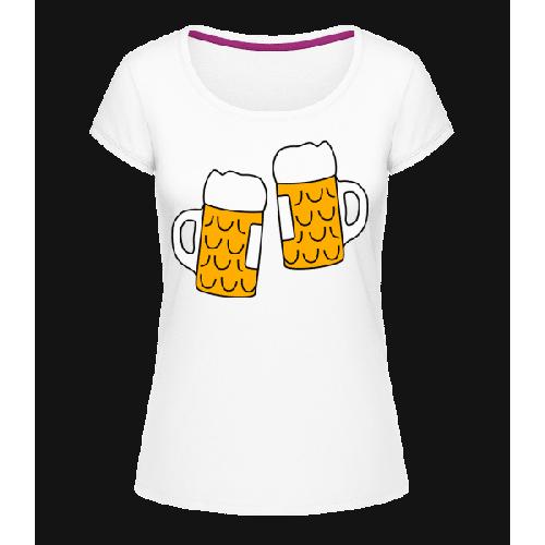 Zwei Bier - Frauen T-Shirt U-Ausschnitt