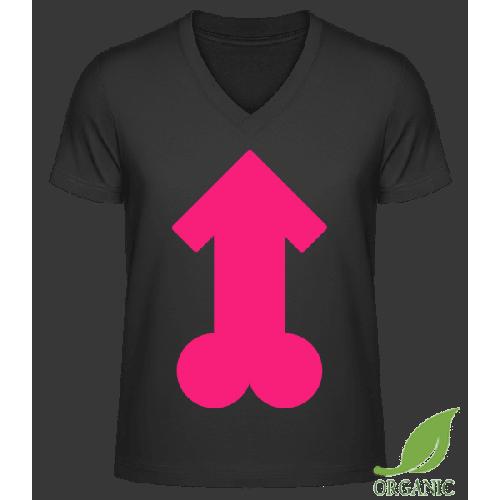 Pink Penis - Männer Bio V-Neck T-Shirt