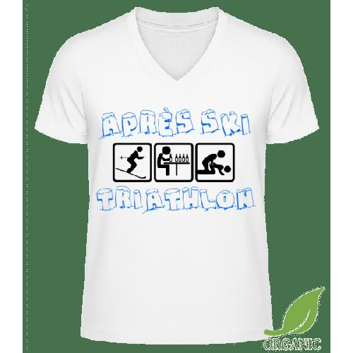 Après Ski Triathlon - Männer Bio V-Neck T-Shirt