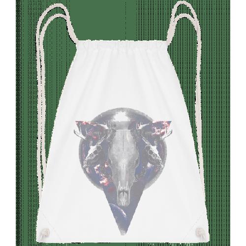 Büffel Totenkopf - Turnbeutel