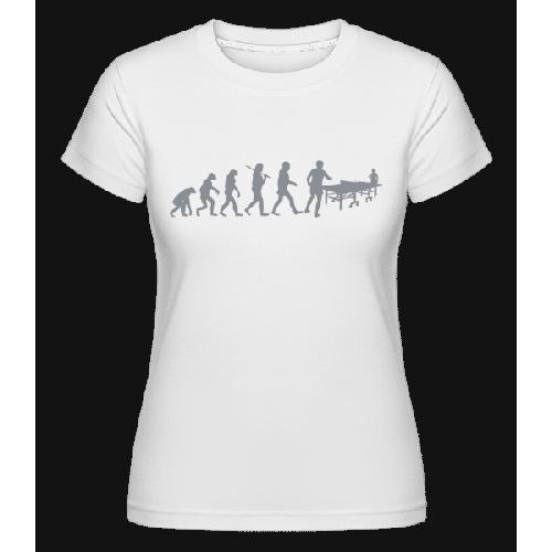 Evolution Des Tischtennis - Shirtinator Frauen T-Shirt