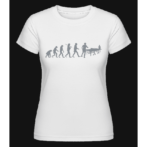 Evolution Des Tischtennis - Shirtinator Frauen T-Shirt