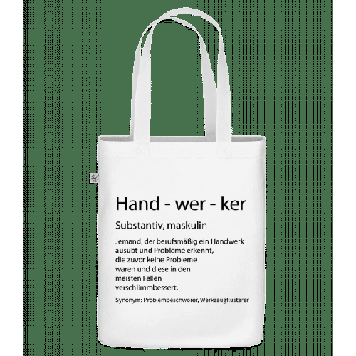 Handwerker Quatsch Duden - Bio Tasche