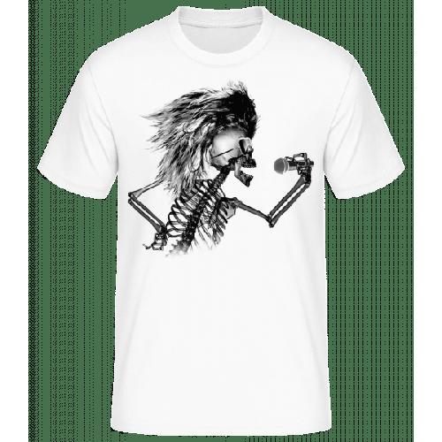 Singendes Skelett - Männer Basic T-Shirt