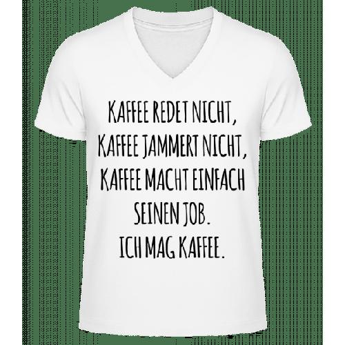 Ich Mag Kaffee - Männer Bio T-Shirt V-Ausschnitt