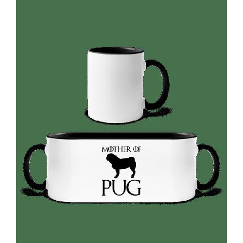 Mother Of Pug - Tasse zweifarbig