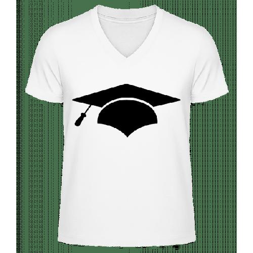 Doktorhut - Männer Bio T-Shirt V-Ausschnitt