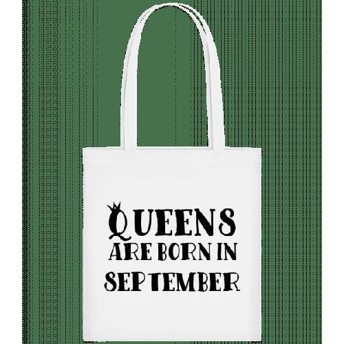 Queens Are Born In September - Stoffbeutel