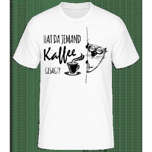 Kaffee Katze - Männer Basic T-Shirt