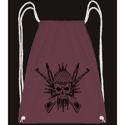 Soldat Totenschädel Tattoo - Turnbeutel