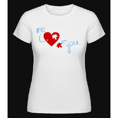 I Love You Puzzle Heart - Shirtinator Frauen T-Shirt