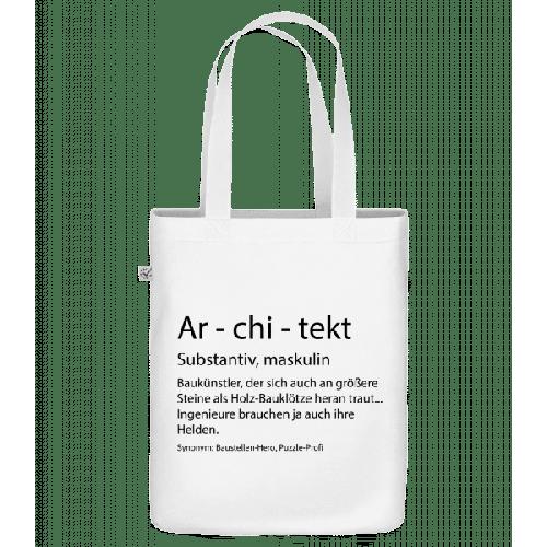 Architekt Quatsch Duden - Bio Tasche
