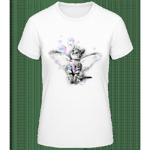Katze Und Seifenblasen - Frauen Basic T-Shirt